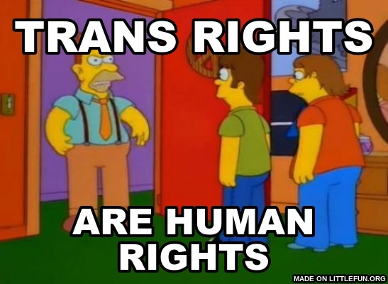 Simpsons Grandpa: trans rights, are human rights